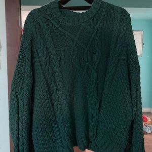 Turquoise knit sweater from aerie